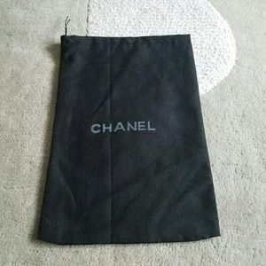 Chanel Single Drawstring Dustbag Black One Only